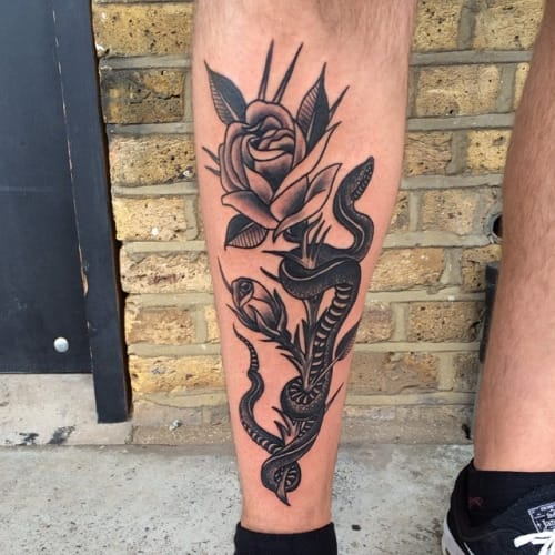 Black and white leg piece