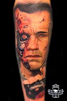 Terminator Tattoo by Alex De Pase
