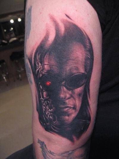 Terminator Tattoo by Dmitriy Samohin