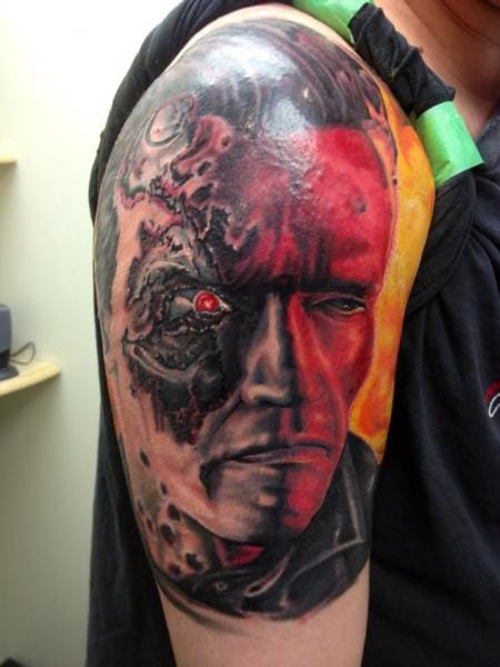 Terminator Tattoo by Tantrix Body Art