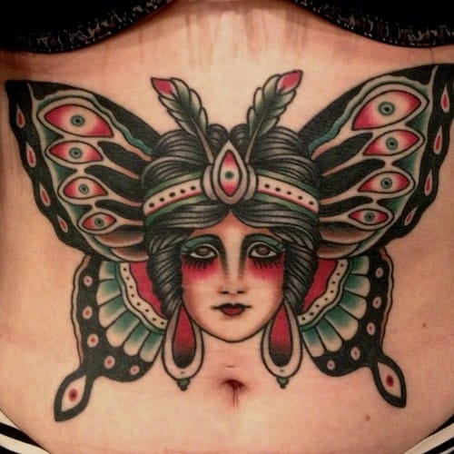 15 Evocative Butterfly Woman Tattoos