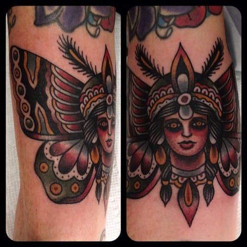 Butterfly Woman Tattoo by Matthew Houston