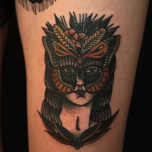 Butterfly Woman Tattoo by Ibi Rothe
