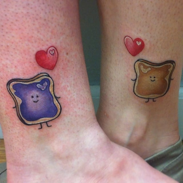Colorful Toast matching mother daughter tattoos #motherdaughter #toasts