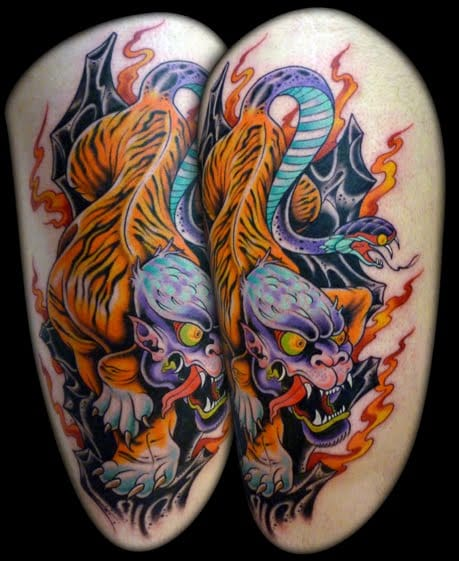 Rich color NUE tattoo from Dave Tevenal