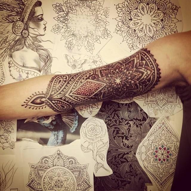 20 Mehndi Inspired Tattoos