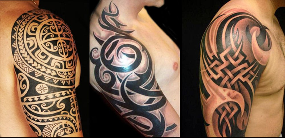 Having an evenly placed design with crisp lines, sharp points and even color is vital. #tribal #tribaltattoos #lines #blackwork