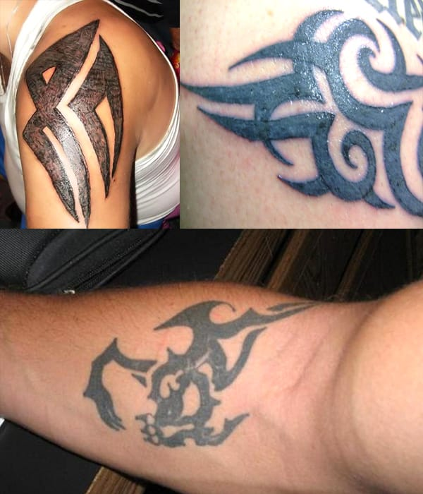 Tribal tattoos can be done really badly. Tribal tattoo fail. #tribal #tribaltattoos #lines #blackwork #tattoofail #fail