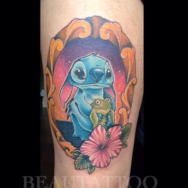 Cute Stitch Tattoo by Beau Tattoo