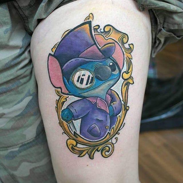 Gentleman Stitch Tattoo by Chris Morris