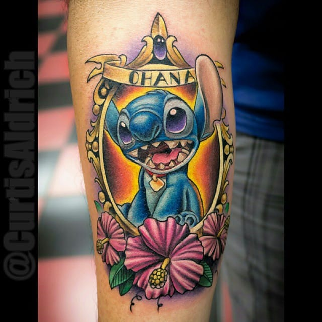 12 cute lilo and stitch tattoos tattoodo. Black Bedroom Furniture Sets. Home Design Ideas