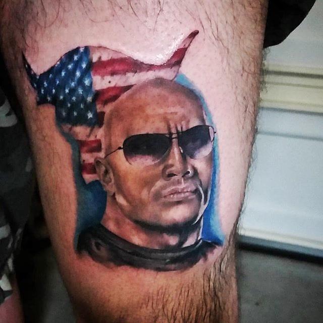 The Rock Tattoo by Edgar Luna #TheRock #DwayneJohnson #wrestler #celebrity #EdgarLuna