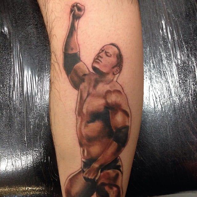Cool The Rock Tattoo by James White #TheRock #DwayneJohnson #wrestler #celebrity #JamesWhite