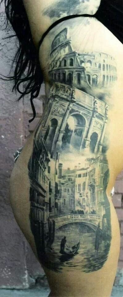 Epic sidepiece tribute to Italy's cities by Carlos Torres.
