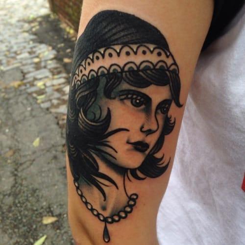 Blackwork Lady by Josh Stephens