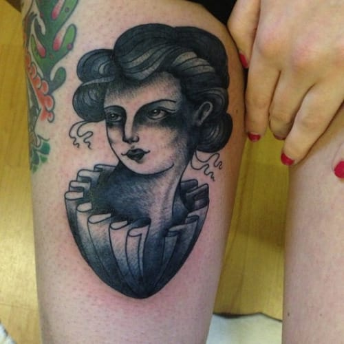 Blackwork Lady by Kerry-Anne Richardson