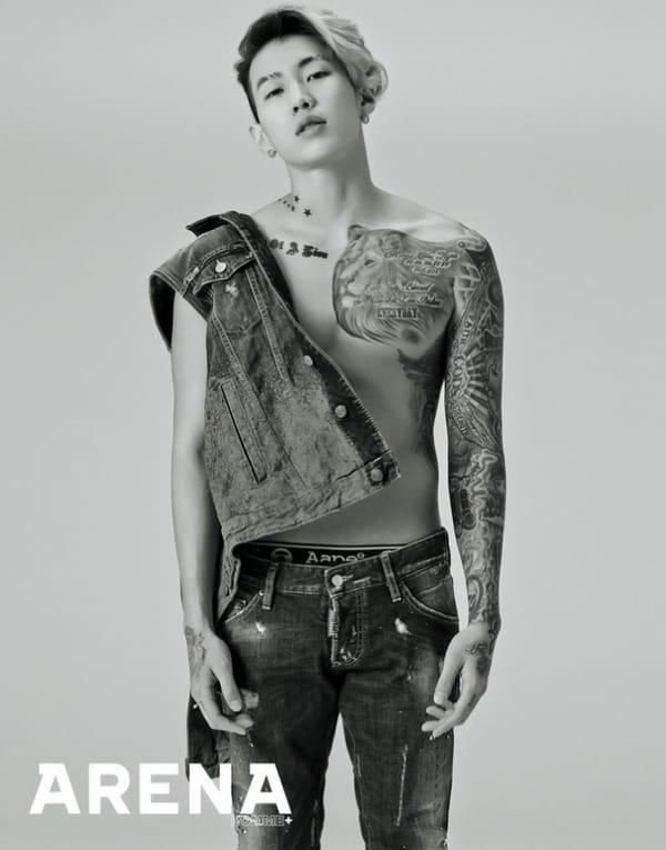 Arena Homme+ Features Shirtless & Inked Jay Park