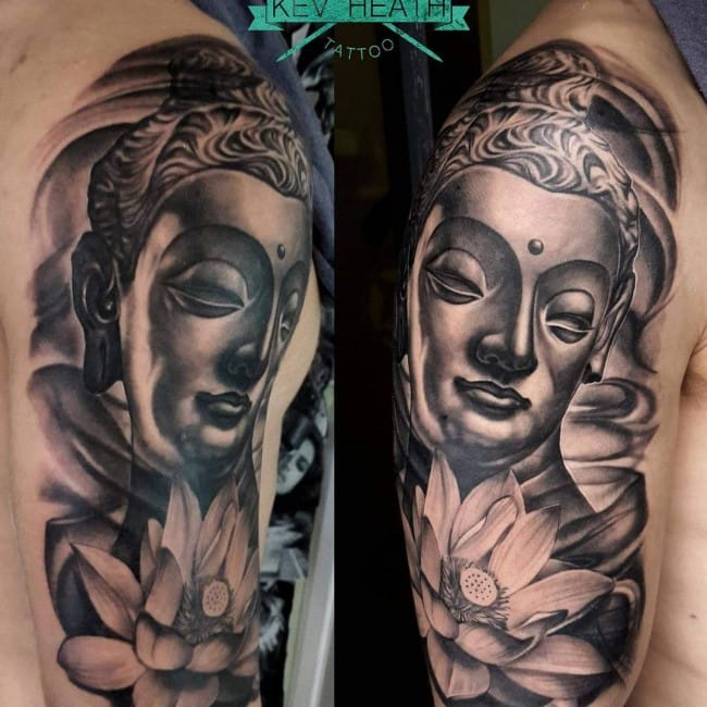 8 Peaceful Buddha Face Tattoos