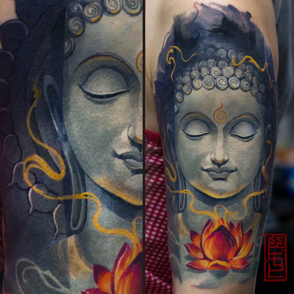 Amazing colored Buddha