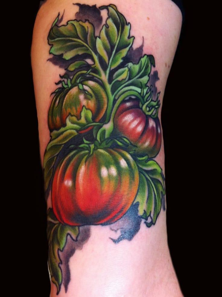 8 Fresh Tomato Tattoos