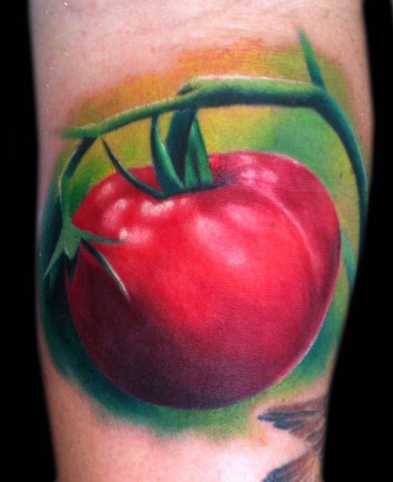 Tomato tattoo by abraxastattoo