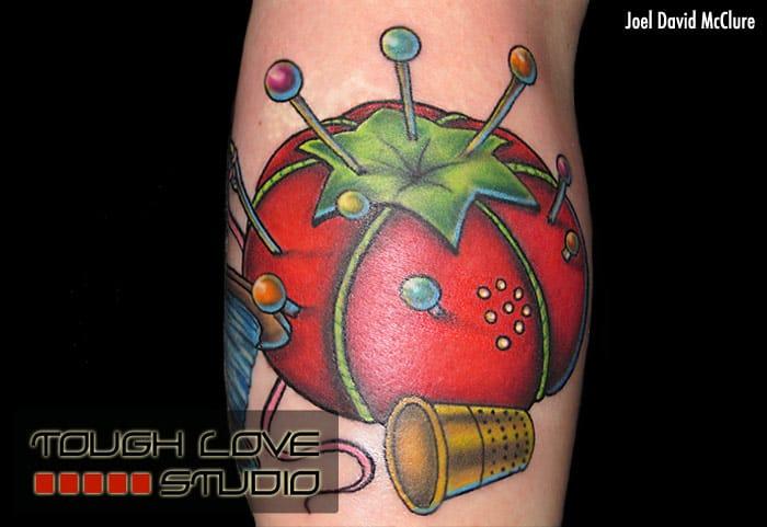 Tomato tattoo by Joel David McClure
