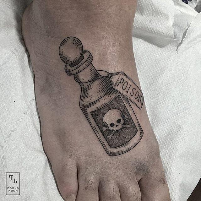 18 Sinister Poison Bottle Tattoos