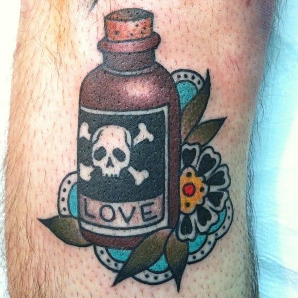 Poison Bottle Tattoo by Cheyenne Sawyer