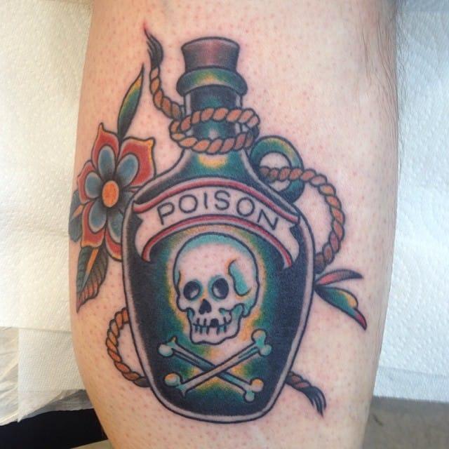 Poison Bottle Tattoo by Matt Howse