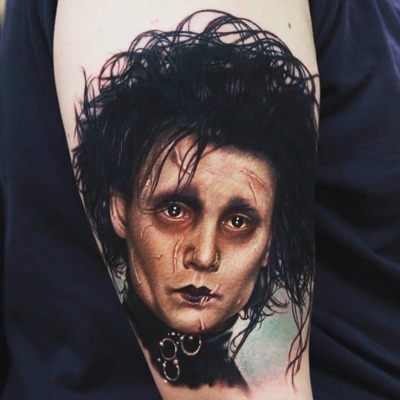Edward Scissorhands tattoo by Rich Pineda