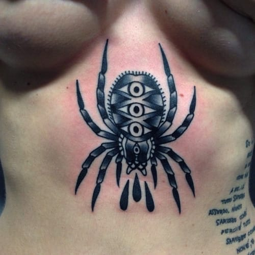 ce3008f931d50 15 Terrific Traditional Spider Tattoos! | Tattoodo