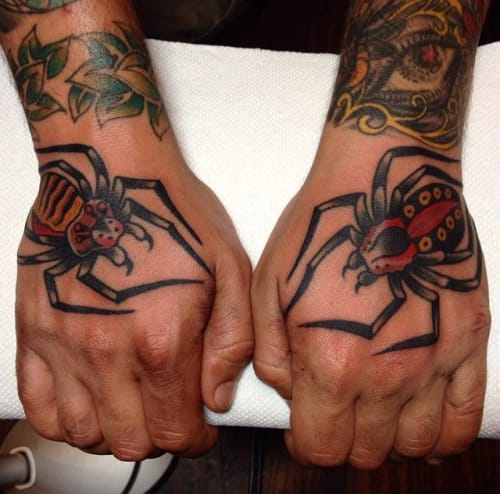 Spider Tattoos by Ryan Cooper Thompson