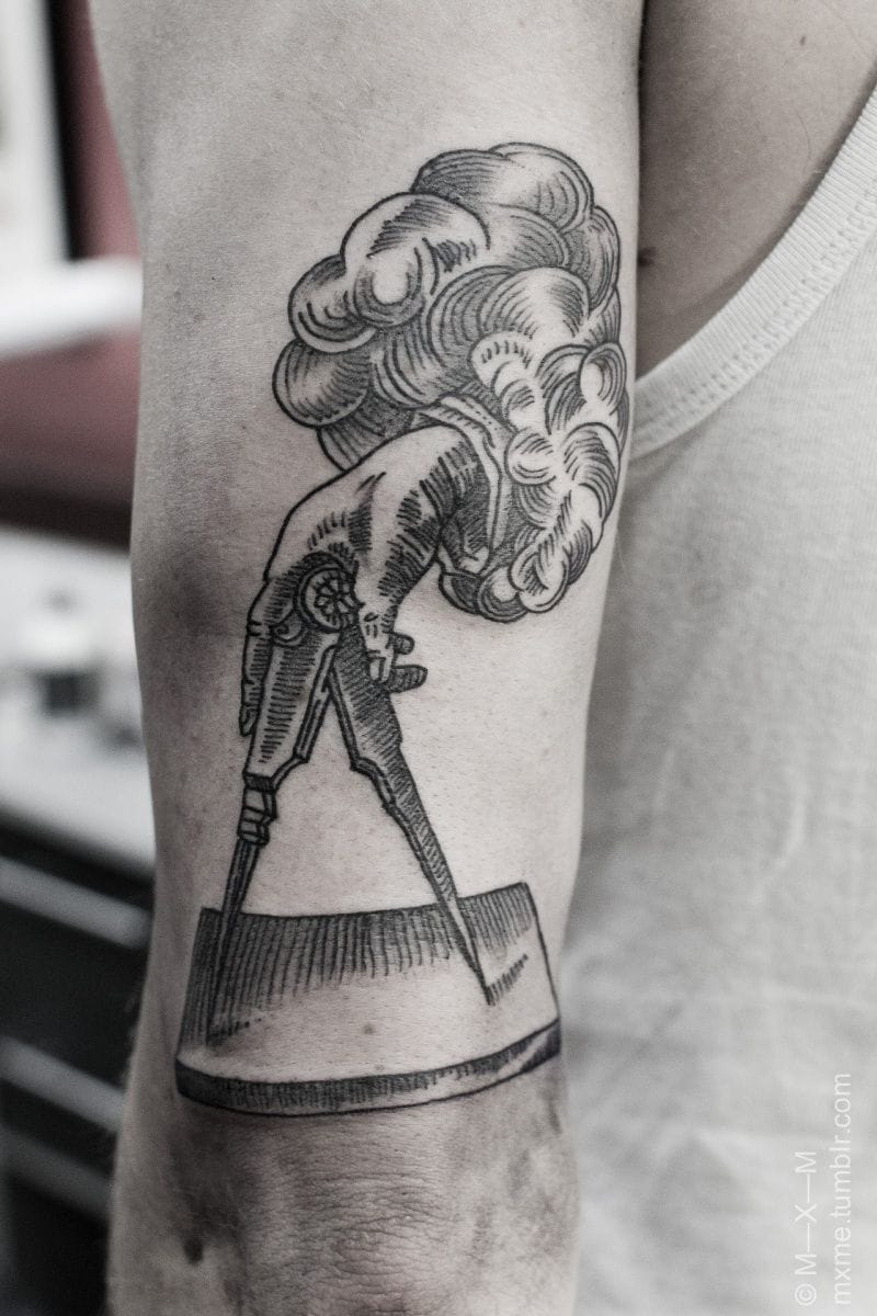 Another vintage illustration tattoo by MXM.
