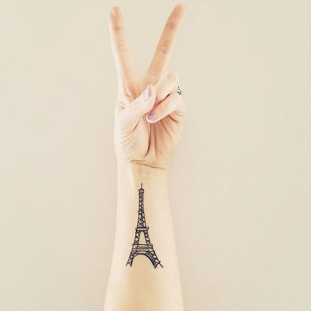 World Pays A Tribute To France With Paris Tattoos