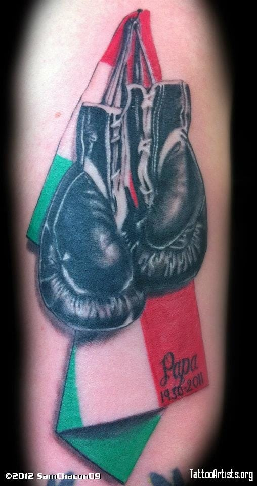 12 Meaningful Boxing Gloves Tattoos | Tattoodo