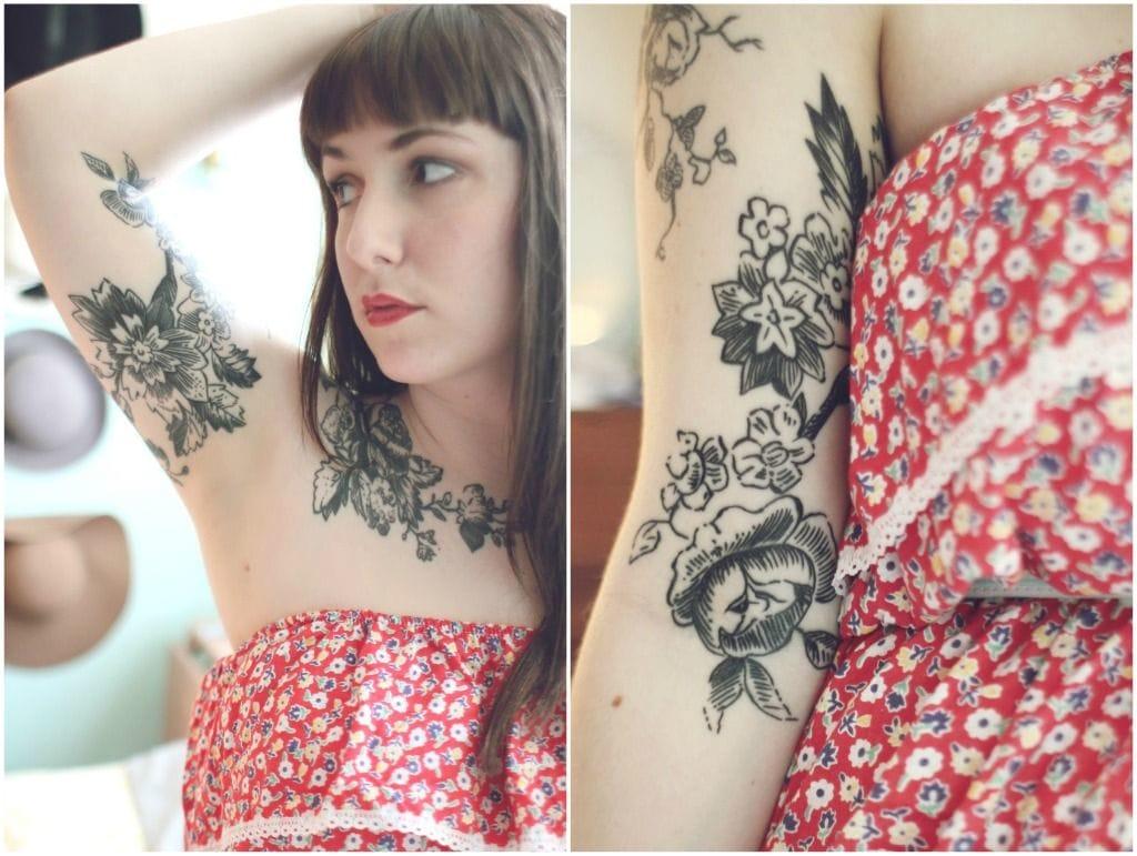 Tasty flowers by Jesse of Good Life Tattoos.