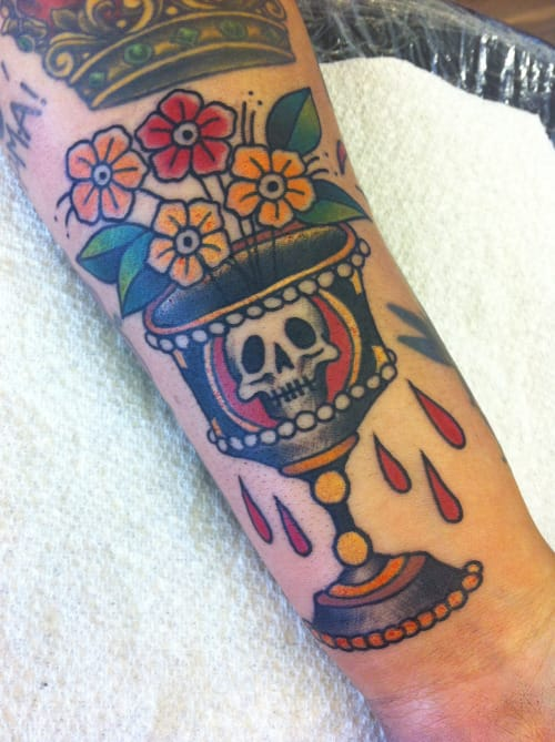Goblet Tattoo by Harriet Heath