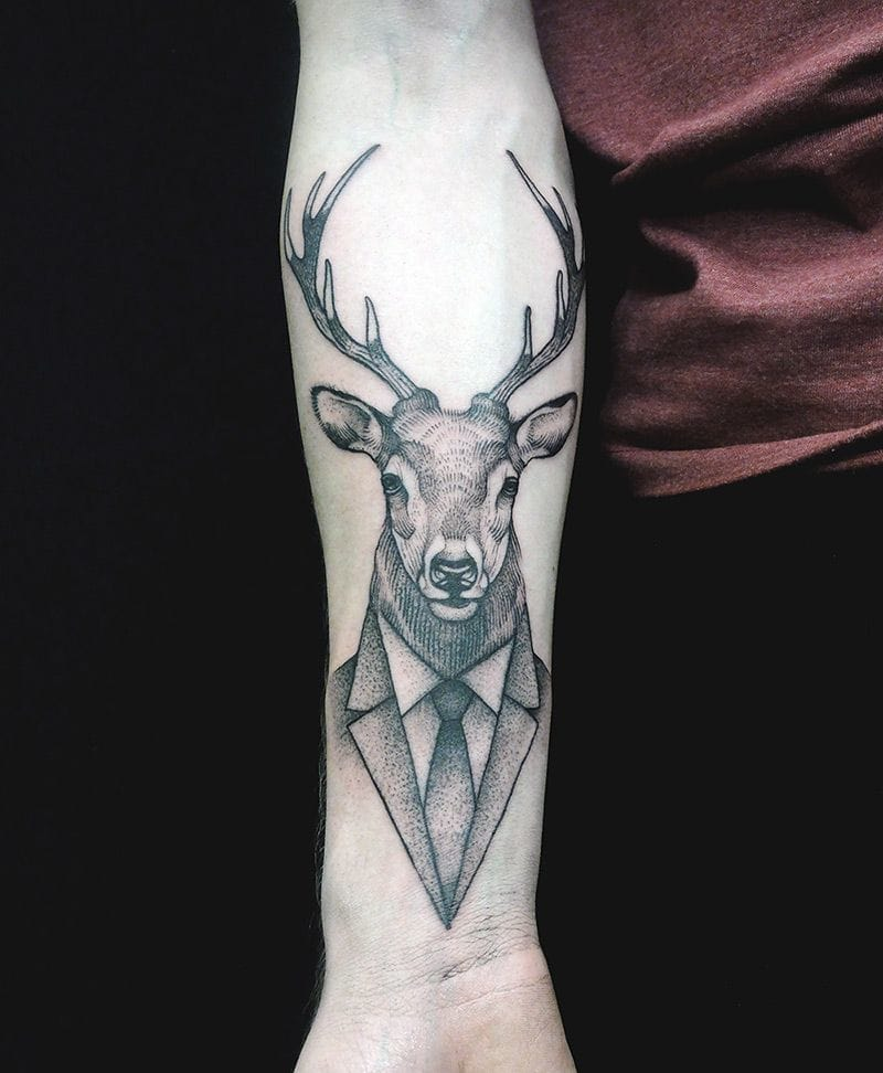 Stag with a suit... by Jan Mraz.