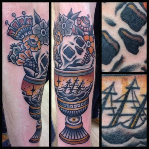 Awesome Goblet Tattoo by Joel Madberg