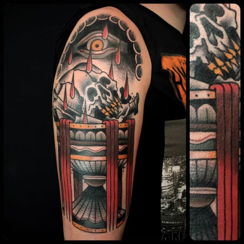 Dark Goblet Tattoo by Sergey Vaskevich