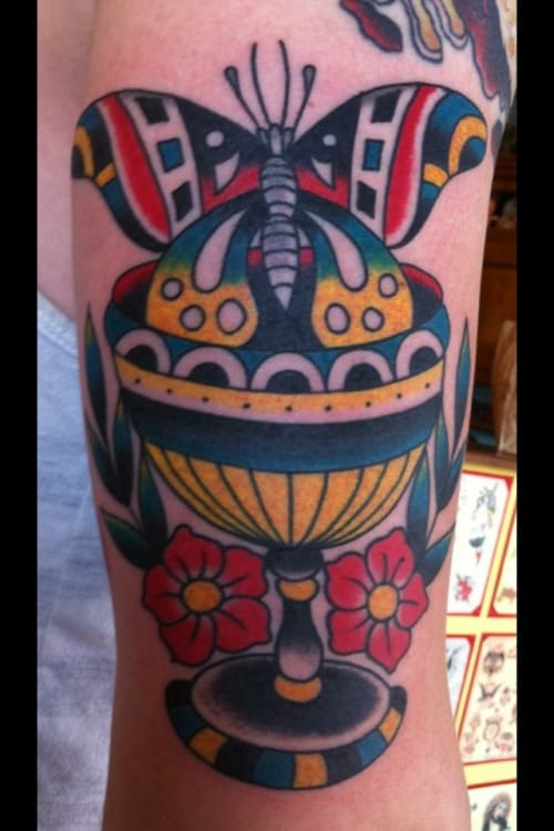 Colorful Goblet Tattoo by Steve Byrne
