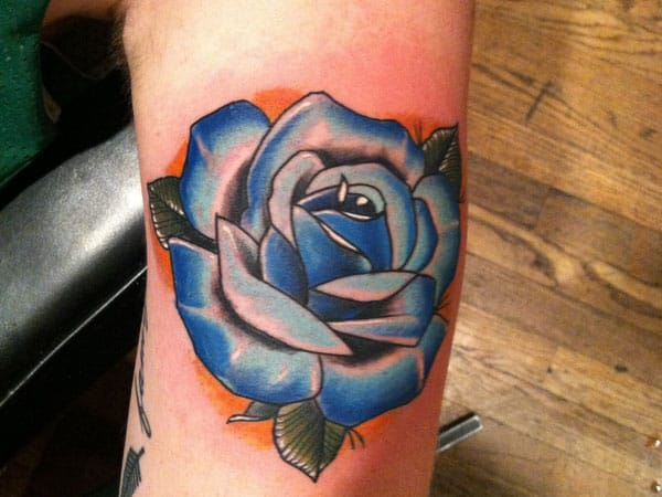 18 exquisite blue rose tattoos tattoodo. Black Bedroom Furniture Sets. Home Design Ideas
