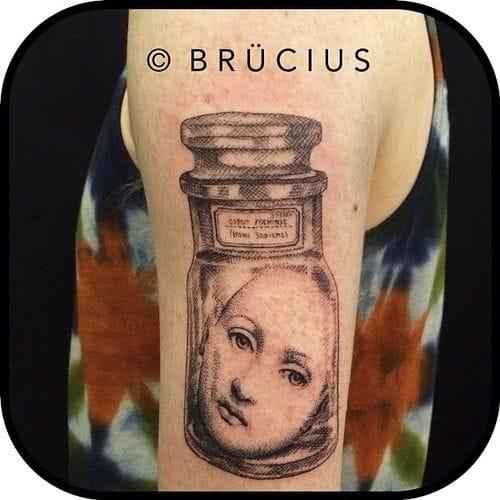 Head in a jar... Odd beautiful piece by Brucius.