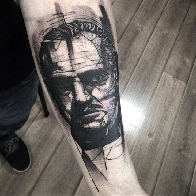 Abstract Vito Corleone Tattoo by Fredao Oliveira