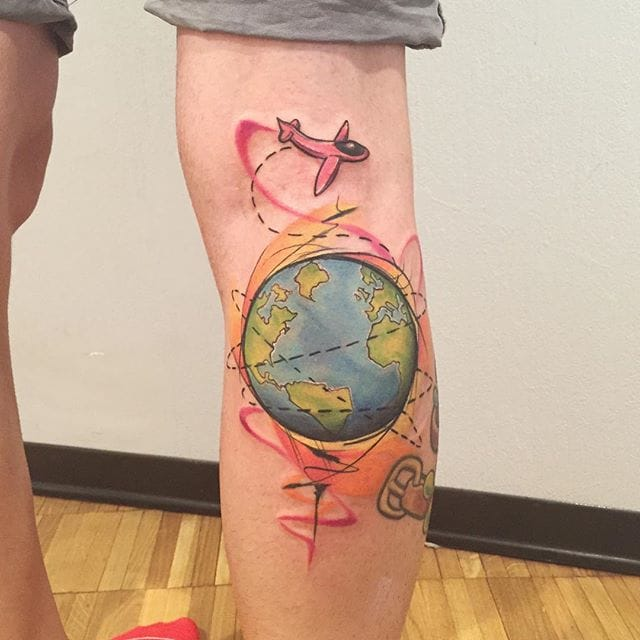 Traveler tattoo by Fashion Tattoo.