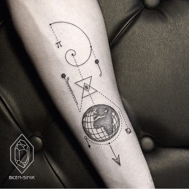 Awesome earth tattoo