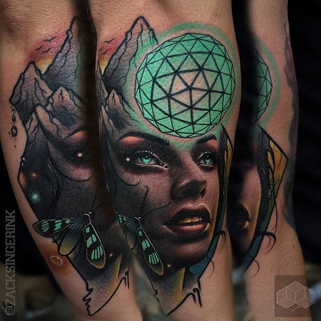 Awesome tattoo by Zack Singer