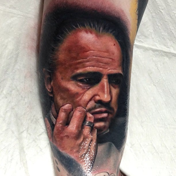 10 Well-Composed Vito Corleone Tattoos
