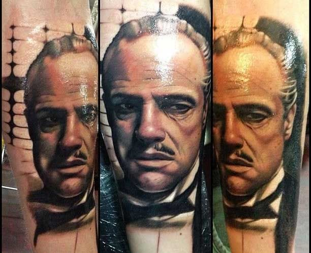 Don Corleone Tattoo by Teneile-Napoli