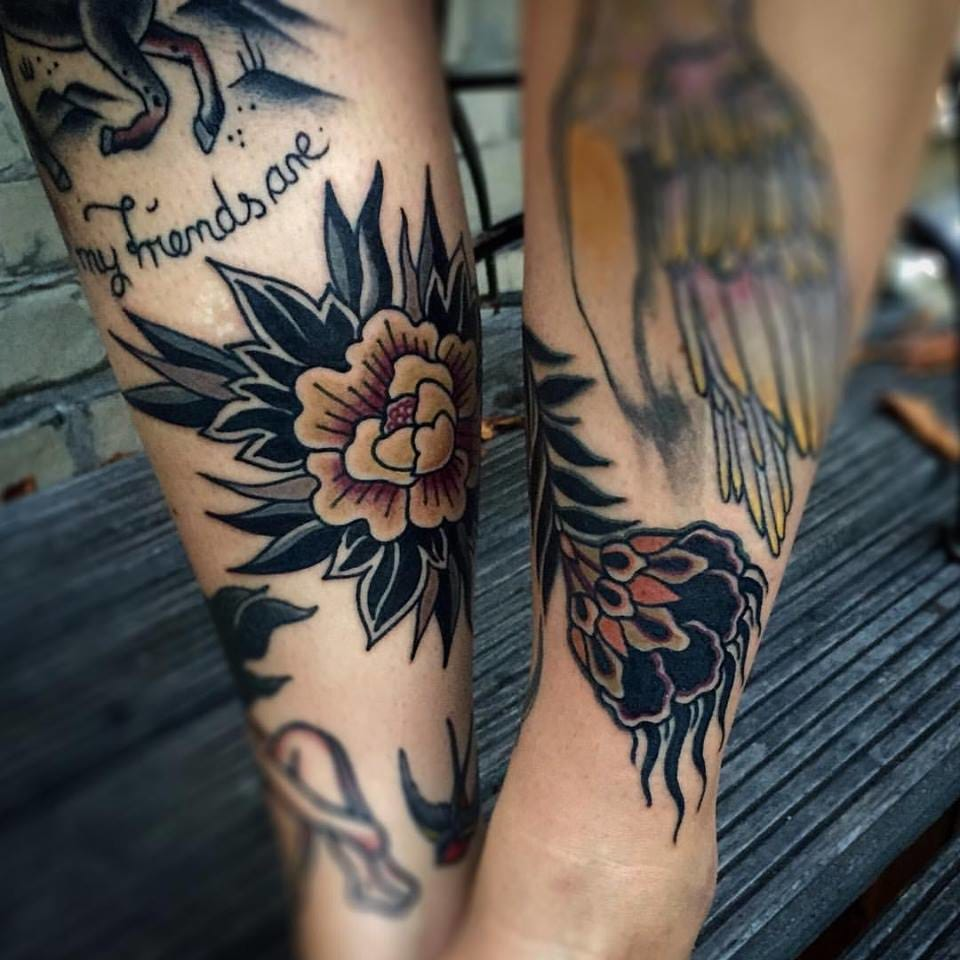 Traditional Flower Tattoo by Esther De Miguel